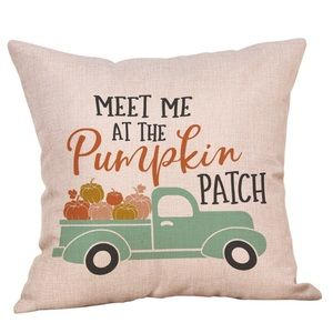 Other - Meet Me At The Pumpkin Patch Burlap Throw Pillow